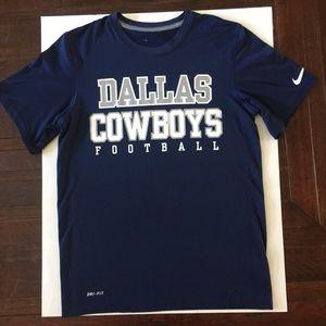 Dallas Cowboy Dri Fit Nike T Shirt Small